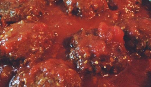 うちのトマト味噌煮込みハンバーグと、翌日のリメイクレシピ。